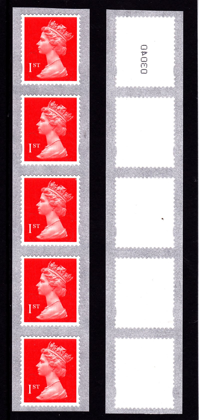 Machin UJE11 1st Enschede from 10000 Stamp Roll