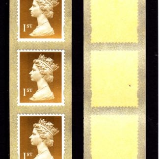 Machin UJE5 1st Enschede Gold from 10000 Stamp Roll