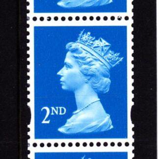 Machin UDA2 2nd De La Rue Strip from 10000 Stamp Roll