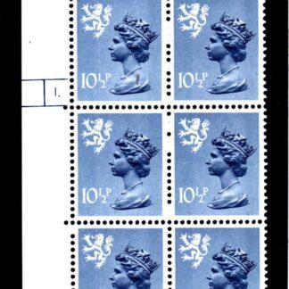 Machin Scotland XS54 10½p Cyl 1 Dot Phosphor 30