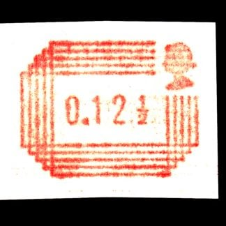 Royal Mail Postage Label 12½p Printed on Gum Y25b