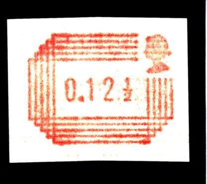 Royal Mail Postage Label 12½p Printed on Gum Y25b