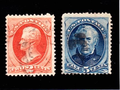 United States Presidents Jackson and Taylor 1875