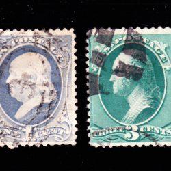 United States of America Franklin and Washington 1881