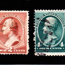 United States of America Washington and Jackson 1883