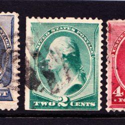 United States Presidents Franklin Washington and Jackson