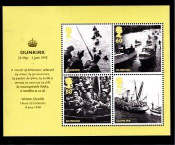 Miniature Sheet MS3086 2010 Evacuation from Dunkirk