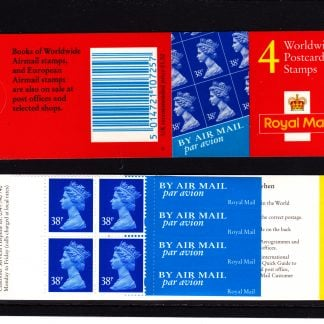 Booklet Airmail GLA1 38p Plain 1999