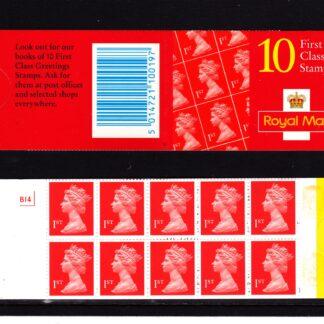 Booklet HD47 Machin Cyl B14 1st Class De La Rue