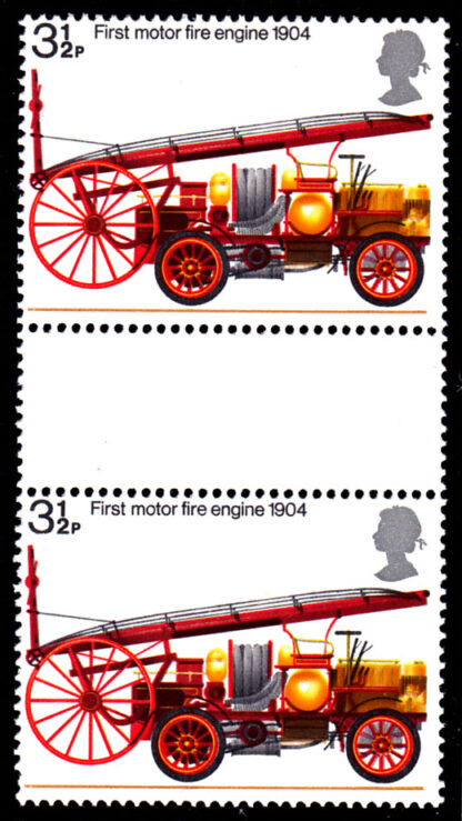Fire Protection Bicentenary 1974 Gutter Pair PVA Scarce