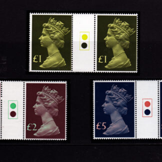 High Values 1977 Traffic Light Gutter Pairs