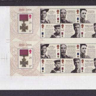 Press Sheet PZ001 Victoria Cross Lower Left