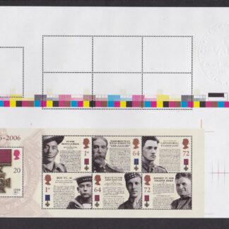 Press Sheet PZ001 Victoria Cross Top Right