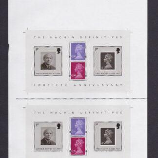 Press Sheet PZ002 Machin Definitives Top Left