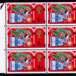 Christmas 1969b Commemorative 812b Block 4d